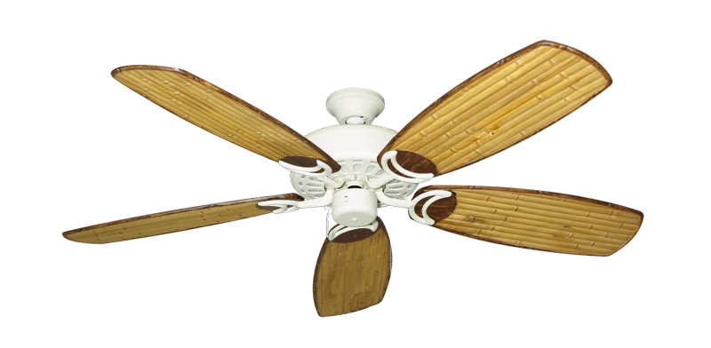 """Picture of Dixie Belle Navajo White with 52"""" Series 275 Arbor Bamboo Blades"""