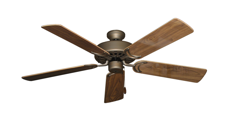 """Picture of Dixie Belle Antique Bronze with 52"""" Walnut Gloss Blades"""