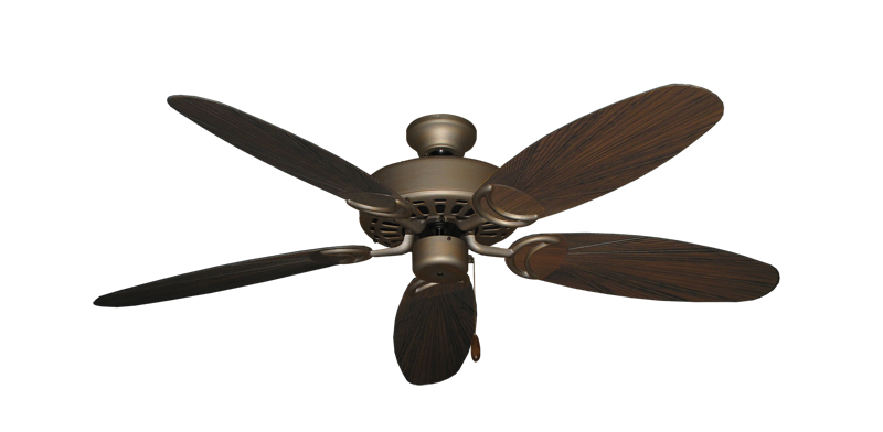 """Picture of Dixie Belle Antique Bronze with 52"""" Outdoor Leaf Oil Rubbed Bronze Blades"""