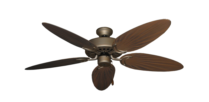 "Picture of Dixie Belle Antique Bronze with 52"" Outdoor Palm Oil Rubbed Bronze Blades"
