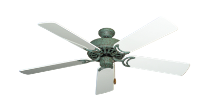 """Picture of Dixie Belle Verde Green with 52"""" Pure White Gloss Blades"""