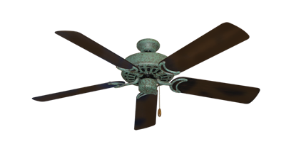 "Picture of Dixie Belle Verde Green with 52"" Outdoor Oil Rubbed Bronze Blades"
