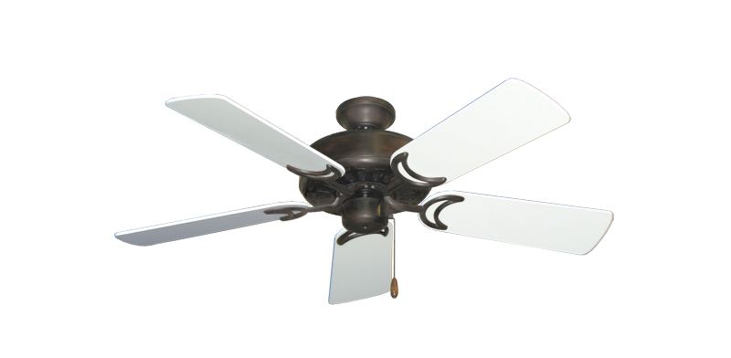 """Picture of Dixie Belle Oil Rubbed Bronze with 44"""" Pure White Gloss Blades"""
