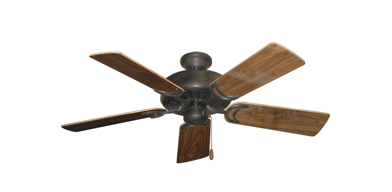 """Picture of Dixie Belle Oil Rubbed Bronze with 44"""" Walnut Gloss Blades"""