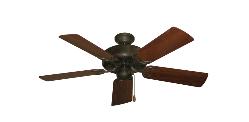 "Picture of Dixie Belle Oil Rubbed Bronze with 44"" Walnut Blades"