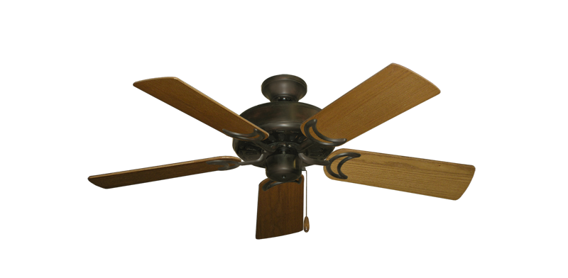 """Picture of Dixie Belle Oil Rubbed Bronze with 44"""" Light Oak Blades"""