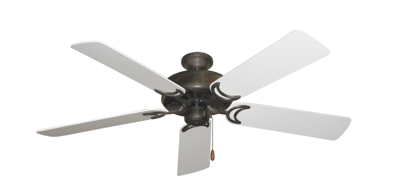 "Picture of Dixie Belle Oil Rubbed Bronze with 52"" Pure White Blades"