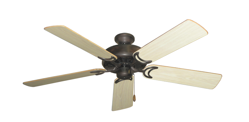 """Picture of Dixie Belle Oil Rubbed Bronze with 52"""" Bleached Oak Gloss Blades"""