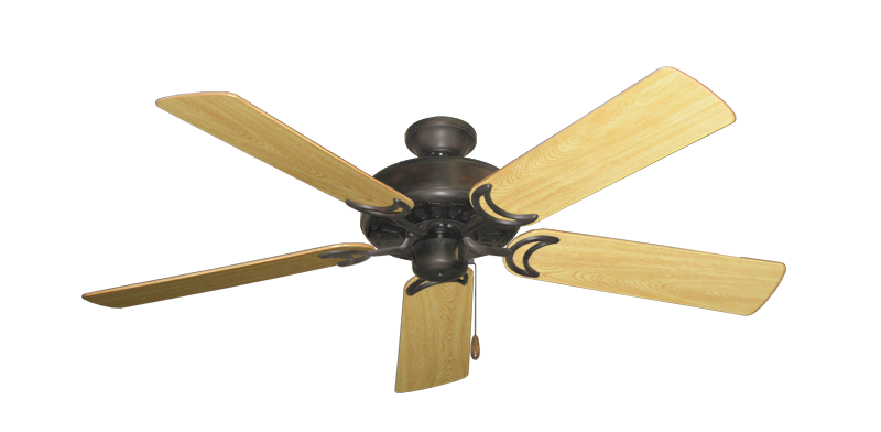 """Picture of Dixie Belle Oil Rubbed Bronze with 52"""" Honey Oak Gloss Blades"""