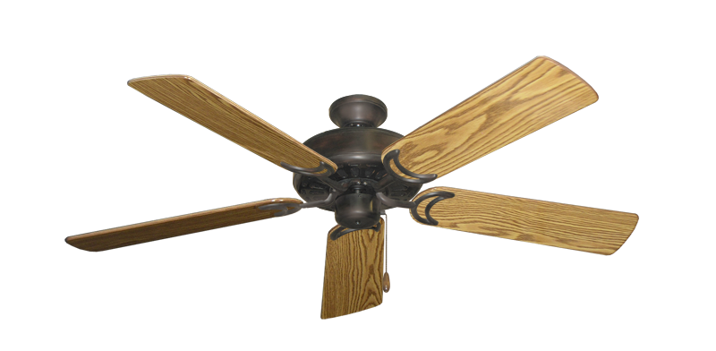 """Picture of Dixie Belle Oil Rubbed Bronze with 52"""" Oak Gloss Blades"""