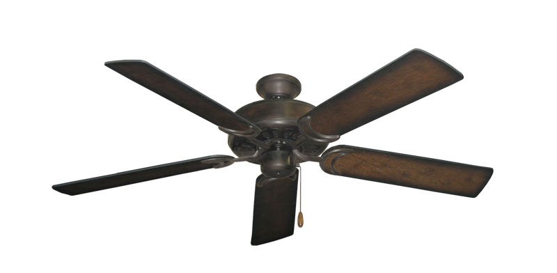 "Picture of Dixie Belle Oil Rubbed Bronze with 52"" Distressed Hickory Blades"