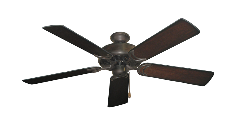 """Picture of Dixie Belle Oil Rubbed Bronze with 52"""" Distressed Cherry Blades"""
