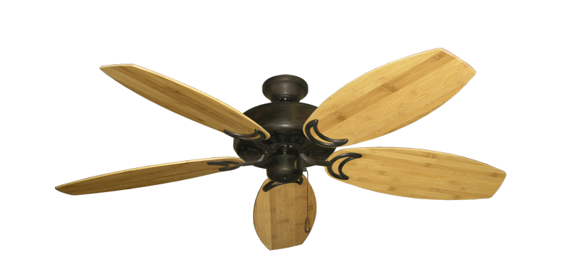 """Picture of Dixie Belle Oil Rubbed Bronze with 52"""" Oar Bamboo Brown Blades"""