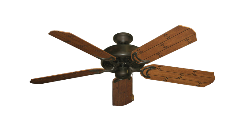 "Picture of Dixie Belle Oil Rubbed Bronze with 52"" Cherry Plank Blades"