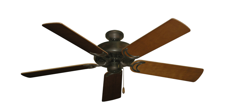 "Picture of Dixie Belle Oil Rubbed Bronze with 52"" Natural Cherry Blades"