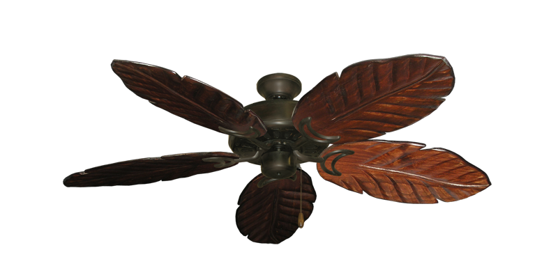 """Picture of Dixie Belle Oil Rubbed Bronze with 52"""" Series 125 Arbor Cherrywood Blades"""