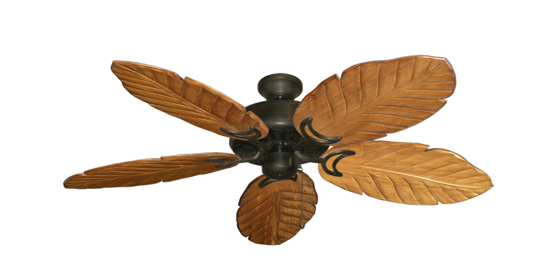 "Picture of Dixie Belle Oil Rubbed Bronze with 52"" Series 125 Arbor Oak Blades"