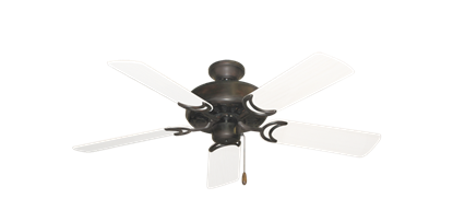 "Picture of Dixie Belle Oil Rubbed Bronze with 44"" Outdoor Pure White Blades"