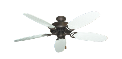 "Picture of Dixie Belle Oil Rubbed Bronze with 52"" Outdoor Leaf Pure White Blades"