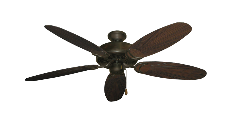"""Picture of Dixie Belle Oil Rubbed Bronze with 52"""" Outdoor Leaf Oil Rubbed Bronze Blades"""