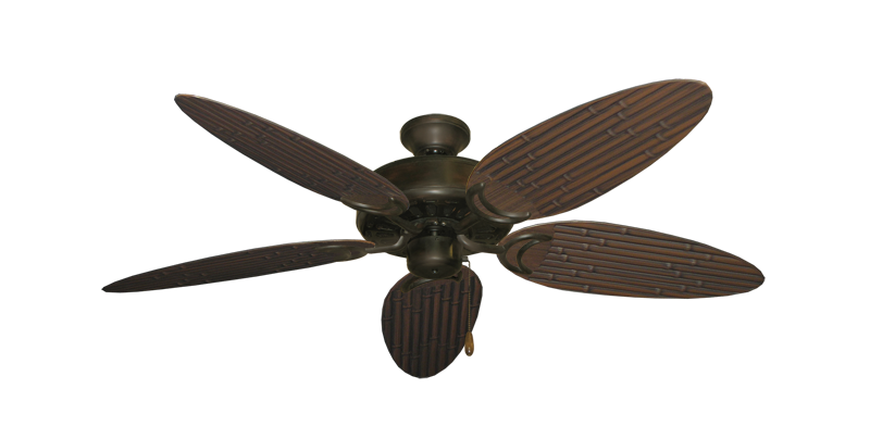 """Picture of Dixie Belle Oil Rubbed Bronze with 52"""" Outdoor Bamboo Oil Rubbed Bronze Blades"""