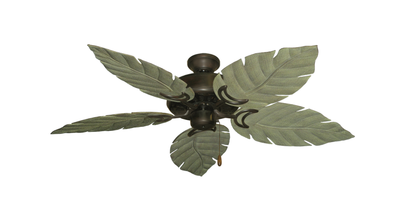 "Picture of Dixie Belle Oil Rubbed Bronze with 52"" Venetian Driftwood Blades"