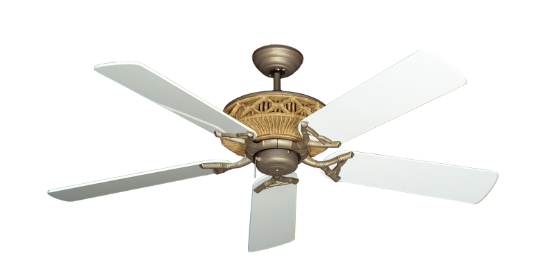 "Picture of Tiki Antique Bronze with 52"" Pure White Gloss Blades"