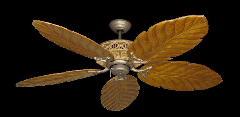 "Tiki Antique Bronze with 58"" Series 100 Arbor Oak Blades"