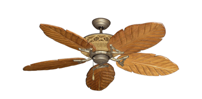 "Picture of Tiki Antique Bronze with 52"" Series 125 Arbor Oak Blades"