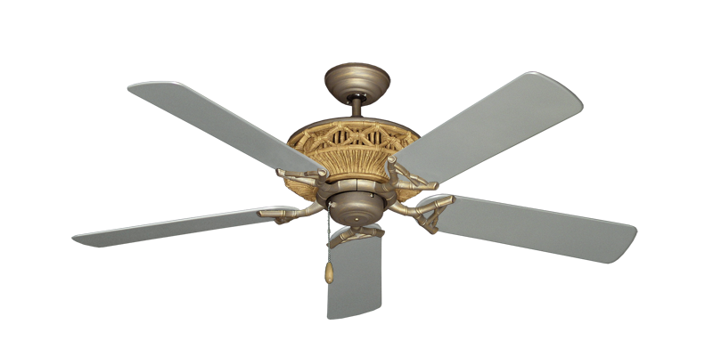 """Picture of Tiki Antique Bronze with 52"""" Outdoor Brushed Nickel Blades"""