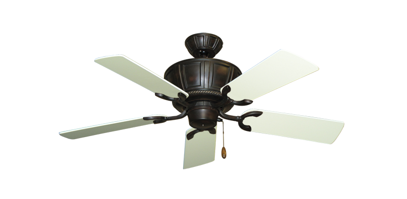 "Picture of Centurion Oil Rubbed Bronze with 44"" Antique White Blades"