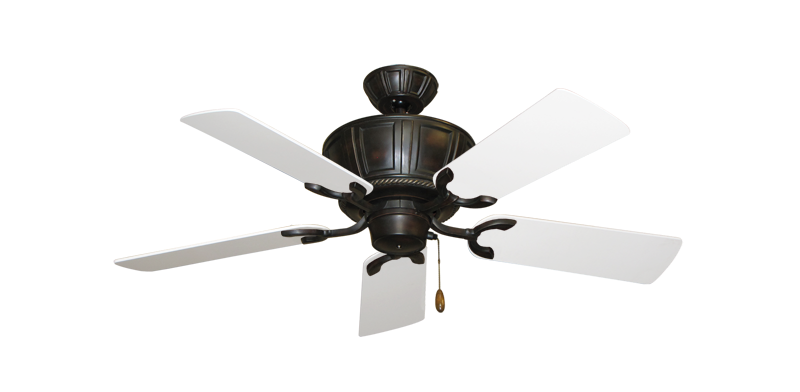 "Centurion Oil Rubbed Bronze with 44"" Pure White Blades"