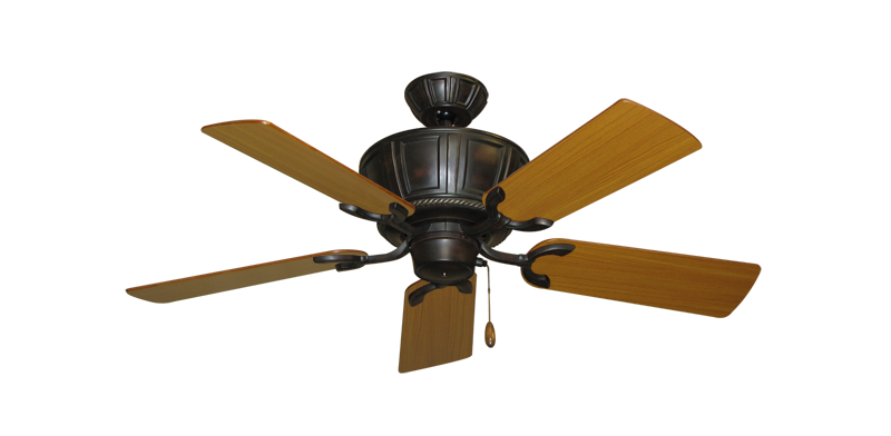 """Picture of Centurion Oil Rubbed Bronze with 44"""" Teak Blades"""
