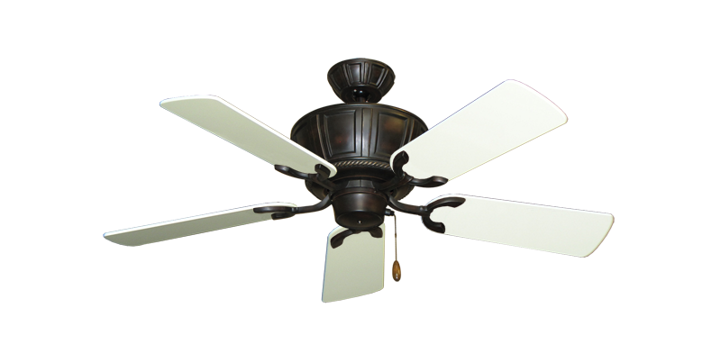 """Picture of Centurion Oil Rubbed Bronze with 44"""" Antique White Gloss Blades"""