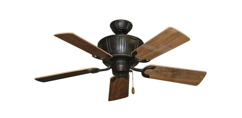 """Centurion Oil Rubbed Bronze with 44"""" Walnut Gloss Blades"""