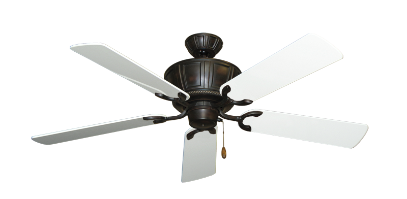"""Picture of Centurion Oil Rubbed Bronze with 52"""" Pure White Gloss Blades"""