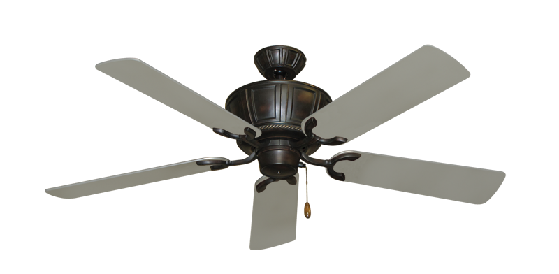 """Picture of Centurion Oil Rubbed Bronze with 52"""" Satin Steel (painted) Blades"""