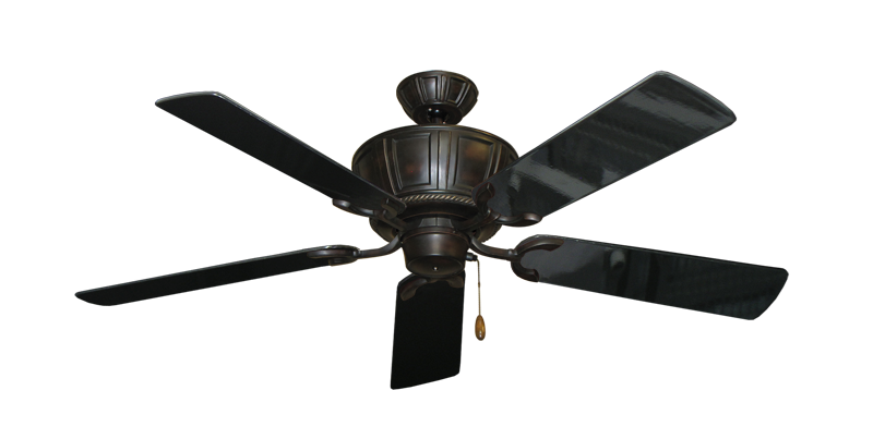 """Centurion Oil Rubbed Bronze with 52"""" Black Gloss Blades"""