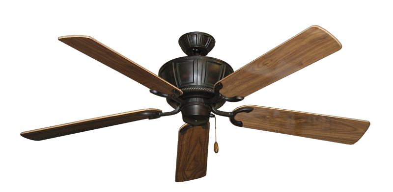 "Centurion Oil Rubbed Bronze with 56"" Walnut Gloss Blades"