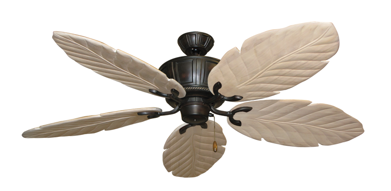 """Picture of Centurion Oil Rubbed Bronze with 58"""" Series 100 Arbor Whitewash Blades"""
