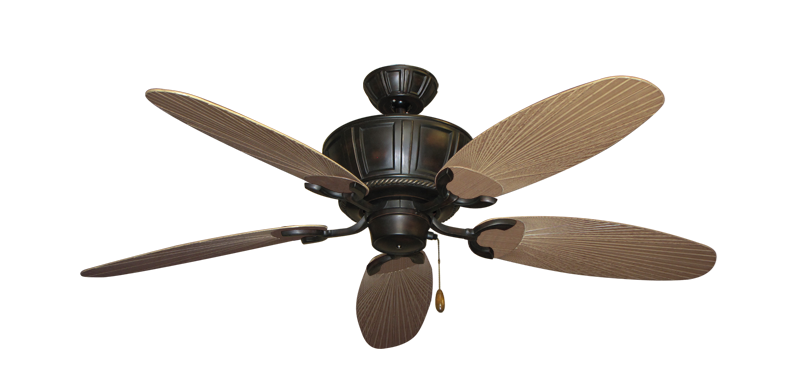 """Centurion Oil Rubbed Bronze with 52"""" Outdoor Leaf Tan Blades"""