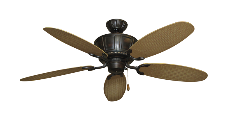 "Centurion Oil Rubbed Bronze with 52"" Outdoor Wicker Tan Blades"