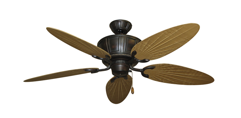 "Picture of Centurion Oil Rubbed Bronze with 52"" Outdoor Palm Walnut Blades"