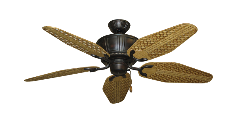 """Picture of Centurion Oil Rubbed Bronze with 52"""" Outdoor Weave Walnut Blades"""