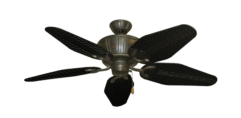 "Picture of Centurion Oil Rubbed Bronze with 52"" Outdoor Weave Oil Rubbed Bronze Blades"