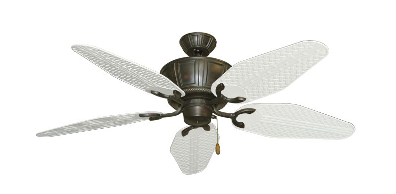 "Picture of Centurion Oil Rubbed Bronze with 52"" Outdoor Weave Pure White Blades"