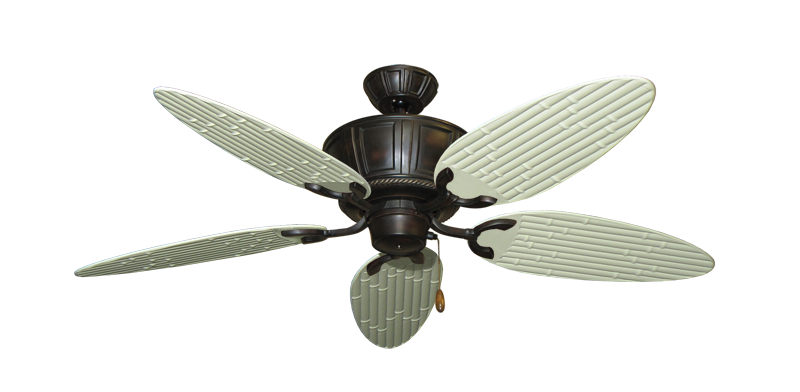 "Picture of Centurion Oil Rubbed Bronze with 52"" Outdoor Bamboo Antique White Blades"