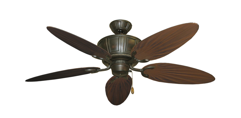 """Picture of Centurion Oil Rubbed Bronze with 52"""" Outdoor Palm Oil Rubbed Bronze Blades"""