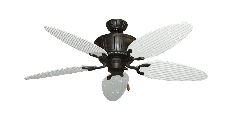 """Picture of Centurion Oil Rubbed Bronze with 52"""" Outdoor Bamboo Pure White Blades"""