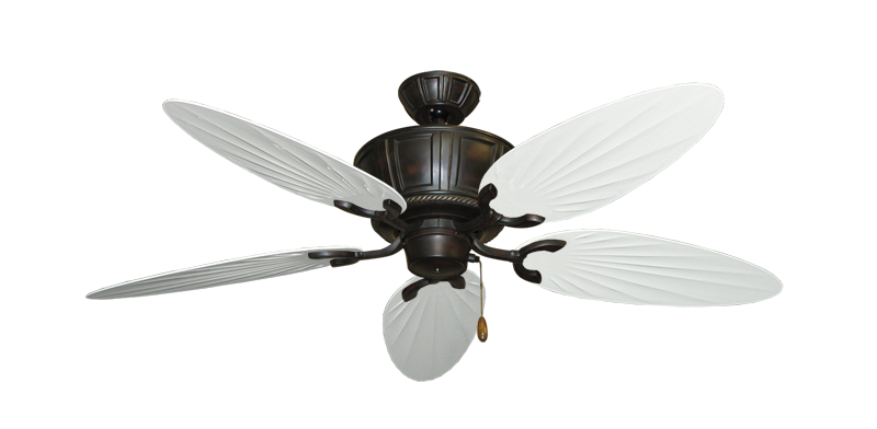 """Centurion Oil Rubbed Bronze with 52"""" Outdoor Palm Pure White Blades"""